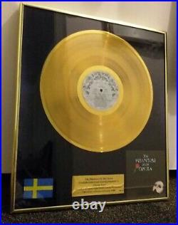 The phantom of the opera polygram swedish gold record award charles hart