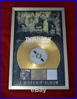 Third Day RIAA Certified Official Gold Record Award FRAMED Christian Rock
