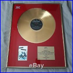 Tina Turner Foreign Affair BPI Gold Record Award Ultra Rare