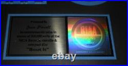To Jesse Powell RIAA Gold Sales Award Framed MCA Records Autographed