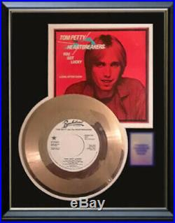 Tom Petty You Got Lucky 45 RPM Gold Metalized Record Rare Non Riaa Award