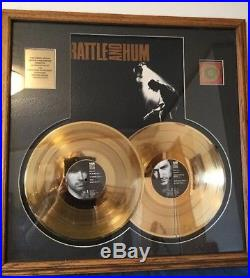 U2 24 KT Gold Plated Record Rattle And Him Award
