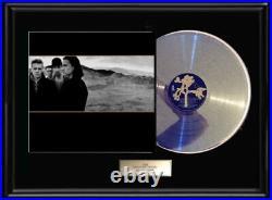 U2 Joshua Tree White Gold Silver Platinum Tone Record Lp Rare Non Riaa Award