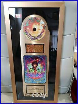 UNIQUE John Edginton Pink Floyd Gold Record Award