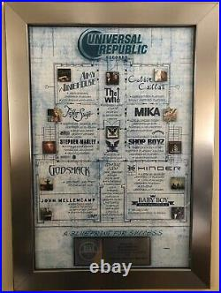 Universal Republic Records RIAA Gold & Platinum Multi Artist Award