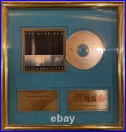 VAN MORRISON Avalon Sunset 1989 CANADA Original CRIA Gold Record Award MINTY