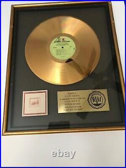 VERY rare. STILLS YOUNG BAND Gold RIAA Record Award Neil Young Stephen Stills