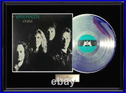 Van Halen Ou812 White Gold Silver Platinum Toned Record Rare Non Riaa Award
