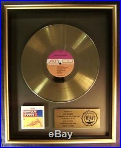 Vanilla Fudge Self Titled LP Gold RIAA Record Award Atco Records