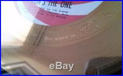 Very Rare Gold Record (nixon's The One) By Disc Award Ltd