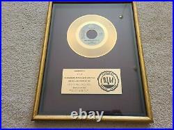 Vintage Arista Records RIAA Gold 45 Award 1979 G. Q Disco Nights