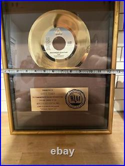 Vintage Arista Records RIAA Gold Award Plaque 1979 G. Q Disco Nights
