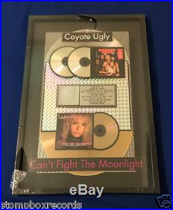 Vintage SEALED LeAnn Rimes/Coyote Ugly RIAA AWARD PLATINUM GOLD RECORD FRAMED