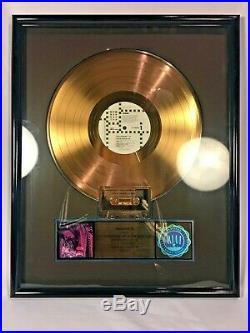 Vixen RIAA Gold Record 500,000 Sales Award Official 80s All-Girl Metal RARE