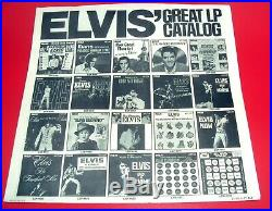 WORLDWIDE 50 GOLD AWARD HITS VOL 2 ELVIS PRESLEY with CLOTH & POSTER PROMO