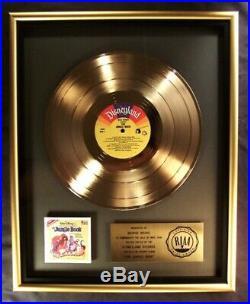 Walt Disney The Jungle Book Soundtrack LP Gold RIAA Record Award Disneyland