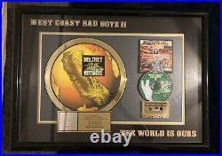 West Coast Bad Boys II RIAA Gold Sales Award No Limit Records Master P 500k Sold