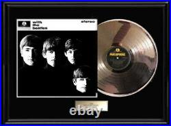 With The Beatles White Gold Silver Platinum Tone Record Lp Album Non Riaa Award