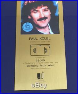 Wolfgang Petry Gold Video Award (goldene Schallplatte) Album Alles 1998