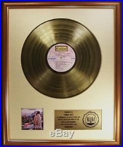 Woodstock Soundtrack LP Gold RIAA Record Award To Canned Heat Cotillion Records