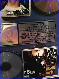 Wu-tang Clan & Mobb Deep Riaa Record Award Platinum & Gold Loud/rca Records