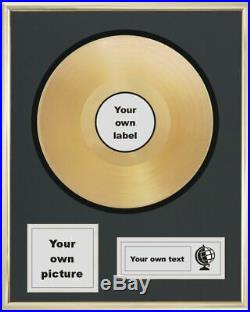 Your Own Personalised 12 Golden Disc Lp Album Record Award Presentation