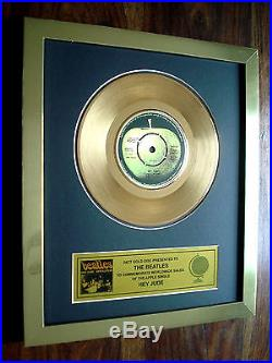 Your Own Personalized 7 Gold Disc Single Record Award Presentation