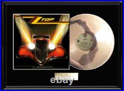 Zz Top Eliminator White Gold Platinum Tone Record Lp Album Non Riaa Award