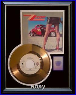 Zz Top Legs 45 RPM Gold Metalized Record Rare Non Riaa Award